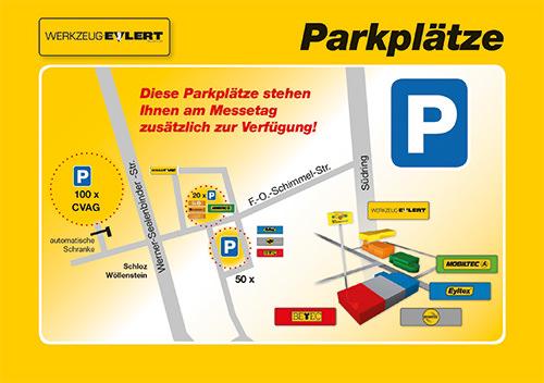 Parkplatzübersicht zur 19. Eylmesse