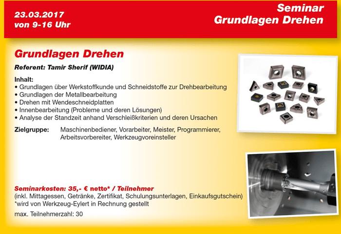 Flyer Eyl-Seminar Grundlagen Drehen