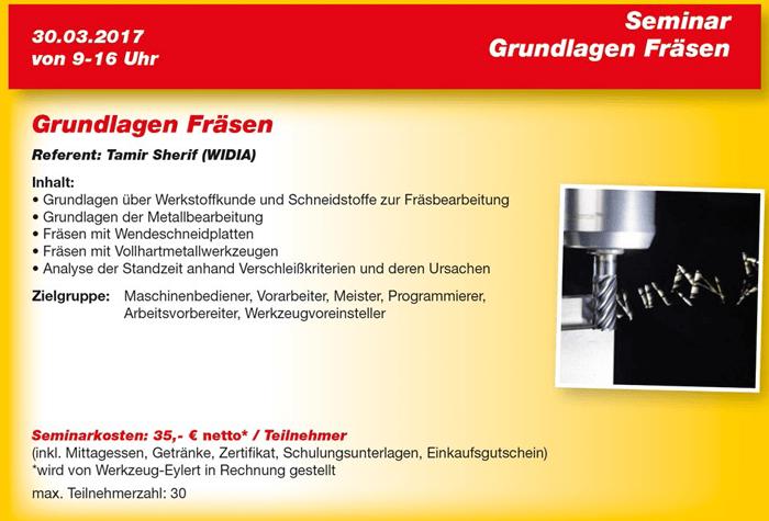 Flyer Eyl-Seminar Grundlagen Fräsen