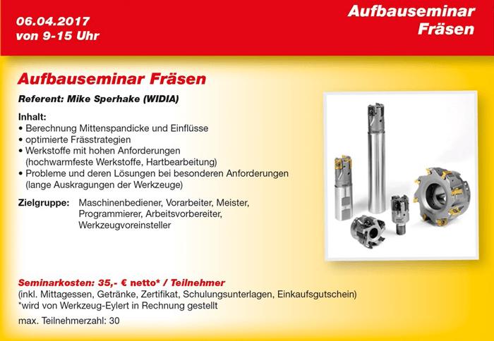 Eyl-Seminar Flyer Aufbauseminar Fräsen